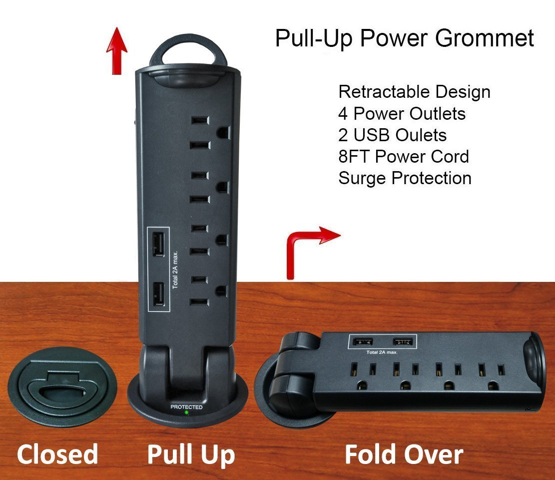Desktop Pull Up Power Grommet Not Any Gadgets